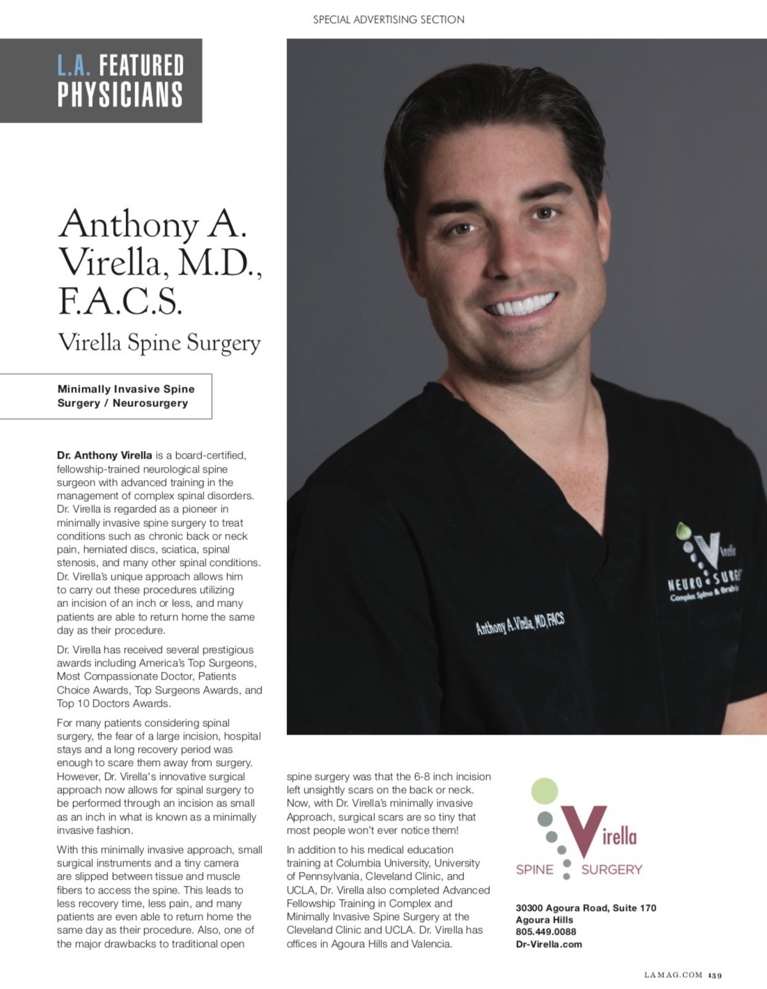 Recently Ranked A Top Doctor by Los Angeles Magazine